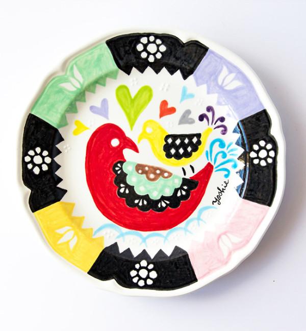 アトリエヨシエ手描き陶器-BirdKiss